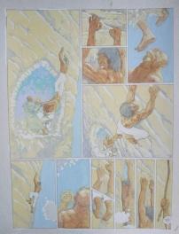 Thorgal - Grzegorz Rosinski - Mise en couleur originale !!! planches originales Comic Art