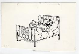 Tondu au lit Comic Art