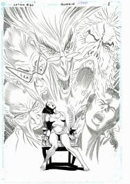 Eduardo Barreto Legend of the Dark Knight #60 page de titre Comic Art