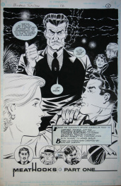 Eduardo Barreto. Planche Originale Page de titre Shadows #12 Comic Art