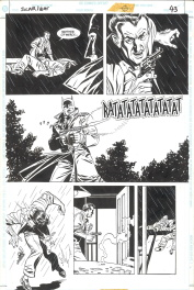 VENDUE - Eduardo Barreto. Planche Originale BATMAN Scar Of The Bat Comic Art