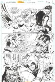 Bill SienKiewicz / Eduardo Barreto. Batman Huntress Spoiler page 10 Comic Art