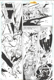 Bill SienKiewicz / Eduardo Barreto. Batman Huntress Spoiler page 12 Comic Art