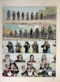 Thorgal - Grzegorz Rosinski - Mise en couleur originale !!! - Les Archers  - planches colour originales
