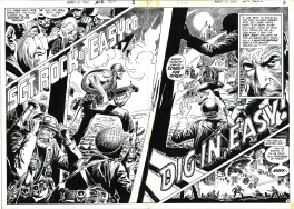Our Army at War # 222 double page 2 et 3 . Sergent Rock .