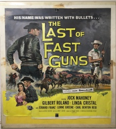 "Peinture de Reynold Brown pour le poster du film ""The Last Of The Fast Guns"" - 1958"