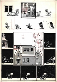 Chris Ware - Waking Up Blind, Cut out house