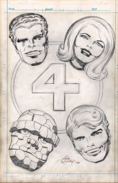 Jack Kirby Fantastic Four 1970s Pin up, vintage!