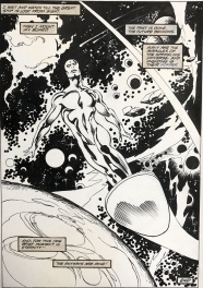 John Buscema Silver Surfer Triumphant Final Splash page 1987