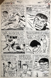Kirby Hulk 1965 page -- Marvel Cartoon blueprint!