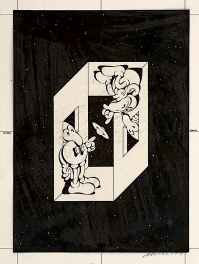 Psychedelic Mickey by Victor Moscoso 1967 ink Drawing