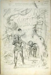 Spawn of Venus penciled EC splash page Wally Wood