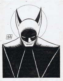 Bob Kane Batman 1970s classic ink pin up