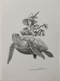 Jeremy Bastian - Cursed Pirate Girl and turtle