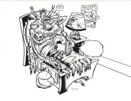 Mezzo - dessin Original publi� dans Capsule Cosmique Comic Art