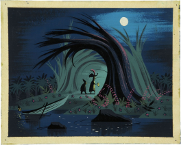 Captain Hook painting for Peter Pan by Disney artist Mary Blair