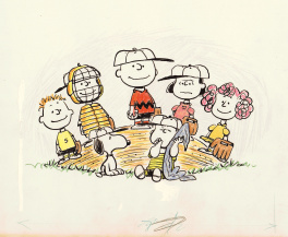 "Cover to Peanuts book ""Charlie Brown's All Stars"" by Charles Schulz"
