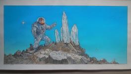 Hommage � moebius   cristaux  Comic Art