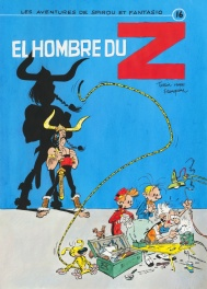 2013 - Spirou et Fantasio / Robbedoes en Kwabbernoot + Asterix (Hommage cover in color - French / Dupuis KV)