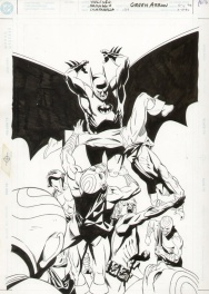 Green Arrow #134, cover Comic Art