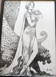 Aouamri - original of an ex-libris