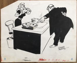 Paul Murry Girlie Cartoon 1940's