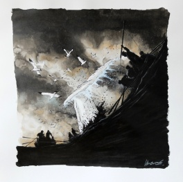 Dessin ORIGINAL - MOBY DICK - Christophe CHABOUTÉ