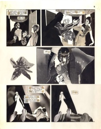 Alberto Breccia el aire pg 5 1976 partly collage page