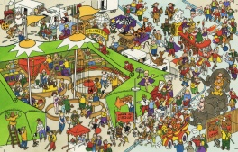 1980? - A circus scene (Illustration - France KV)