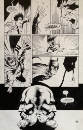 Dave Taylor, DC Comics, BATMAN Shadow of the Bat #63, JANUS part two, planche n° 19, june 1997.