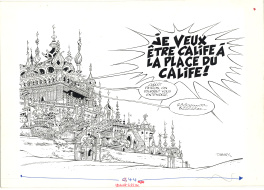 Tabary : Iznogoud tome 13, pages de garde.