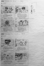 Storyboard GORILLAZ - pages 3 et 4 - The Eel