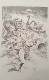 Les vikings Original dessin Librairie CINEFLASH