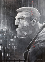Tribute to Sin City - Marv, 100 cm x 70 cm, acrylic on canvas