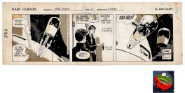 Flash Gordon Strip du 9/24/62 + case (imprimée) de Moebius