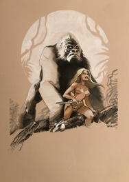 Jungle Girl and Gorilla Couleur