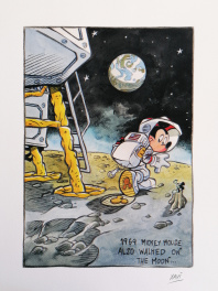 1969 : Mickey Mouse also walked on the Moon