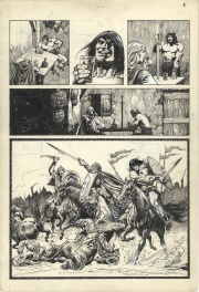 """Hawks of Outremer,"" page 4 (unpublished Savage Sword of Conan story)"