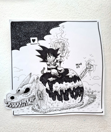 Dessin original de l'Inktober 2018 : Dragon Ball Son Goku