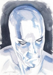 Silver SURFER watecolor illustration