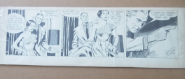 Alex Raymond Rip Kirby strip #2570 dtd 5-18-54
