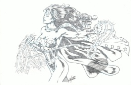 Wonder Woman with Lasso pinup by Al Rio