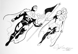 Biden wins ! Democracy is Back !  Superman and  Supergirl .
