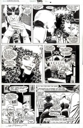 Daredevil #266 page 11 by John Romita Jr - Daredevil drinking at a bar with the Devil