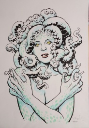 The girl with tentacles