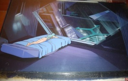 Anime cel film Space adventure Cobra : Jane étendue nue