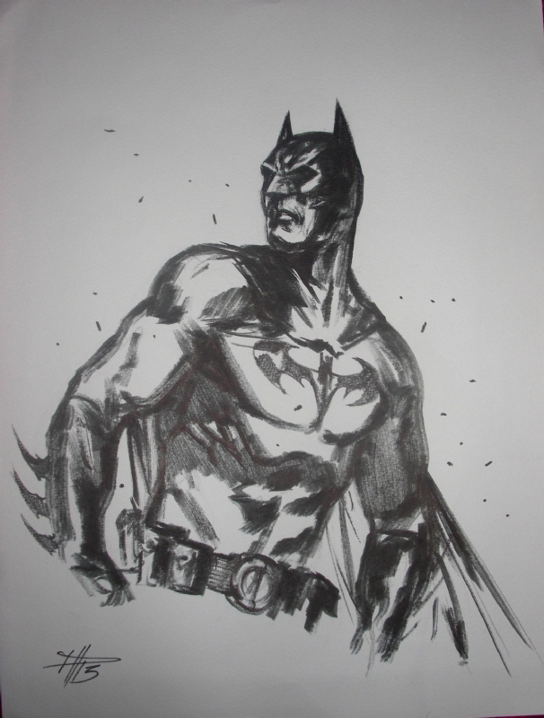 Batman par Dell'Otto by Gabriele Dell'Otto - Sketch