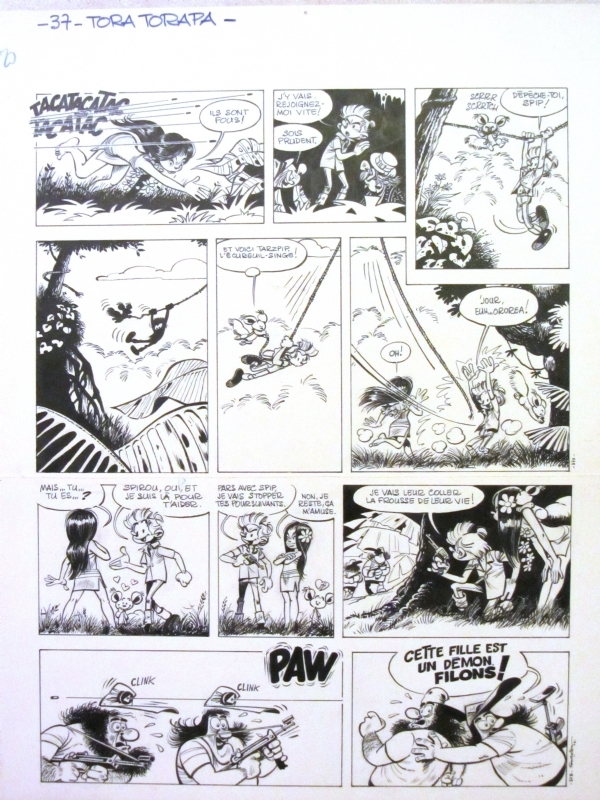 Fournier Jean-Claude - Spirou & Fantasio - planche Tora Torapa by Jean-Claude Fournier - Comic Strip