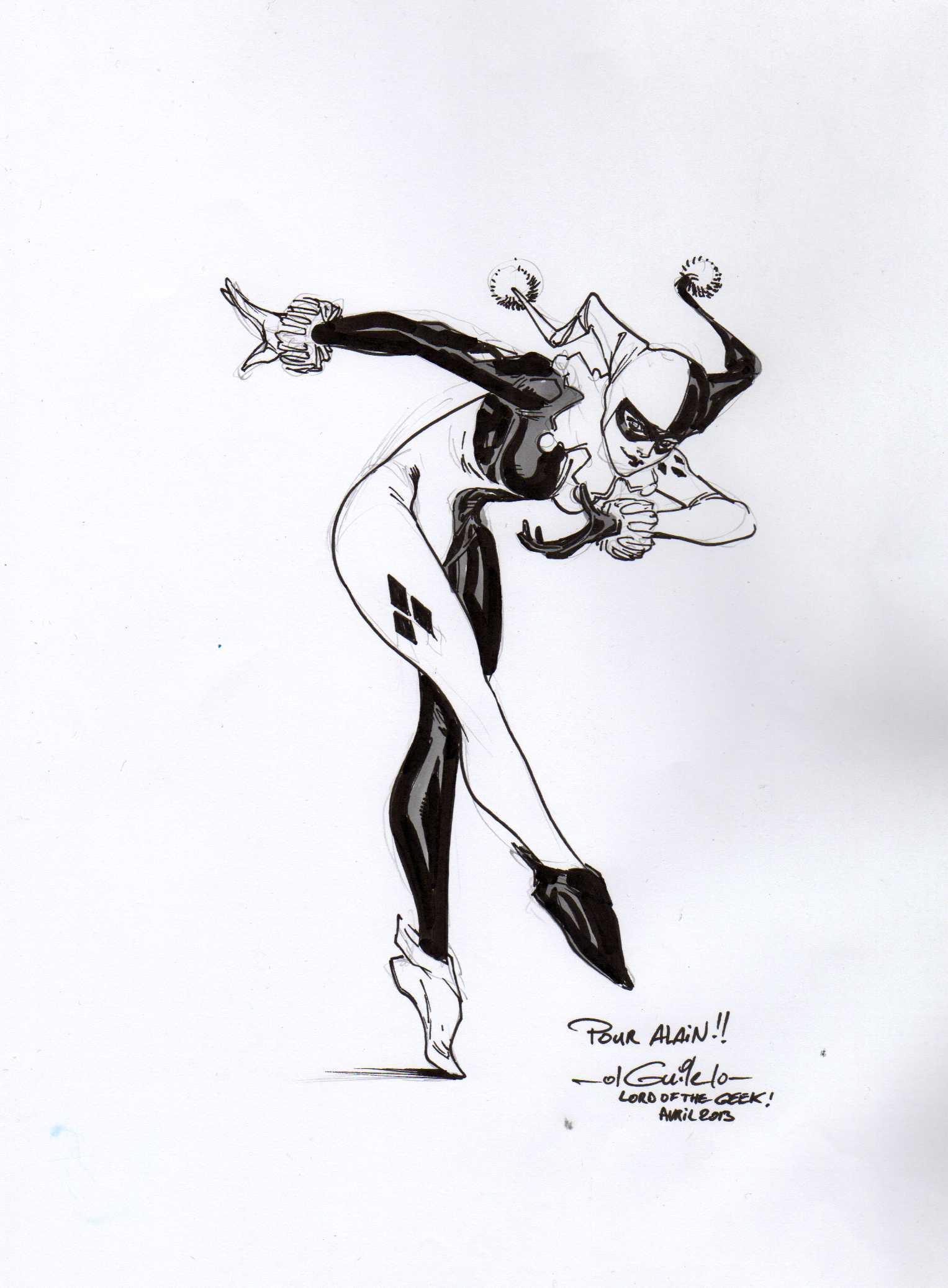 Harley Quinn And Joker Drawing Google Search Blue Pinterest Dessin