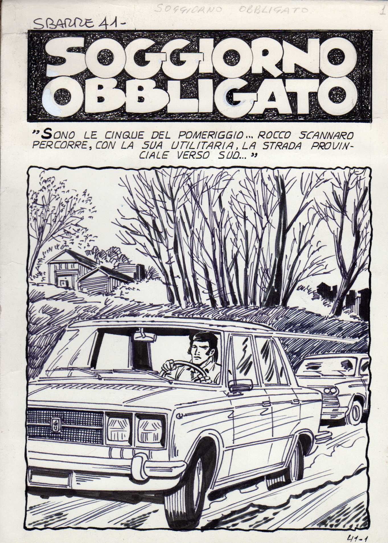 Page titre de l\'histoire Soggiorno Obbligato, publiée dans le n°41 ...